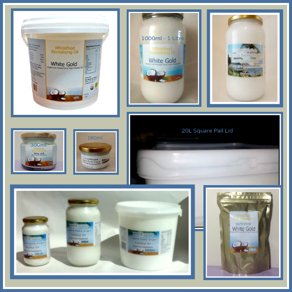 Coconut Oil Shop Size Offerings