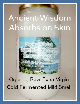 Ancient Wisdom Fermented Raw Coconut Oil: Easily Absorbed on Skin
