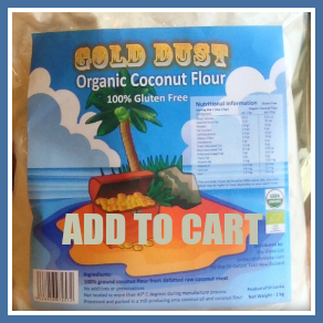 Gold Dust Raw Coconut Flour 1kg Framed 292 Add To Cart