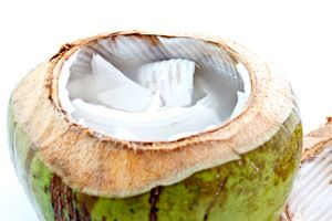Coconut Water in a Young Green Coconut