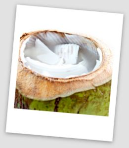 Young Green Coconut with Water