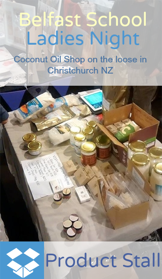 Coconut Oil Shop at large Christchurch event