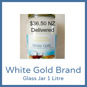 1L Glass Jar White Gold