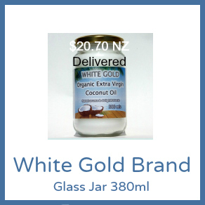 380ml Glass Jar White Gold